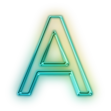 110675-glowing-green-neon-icon-alphanumeric-letter-aa