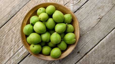 green-walnuts