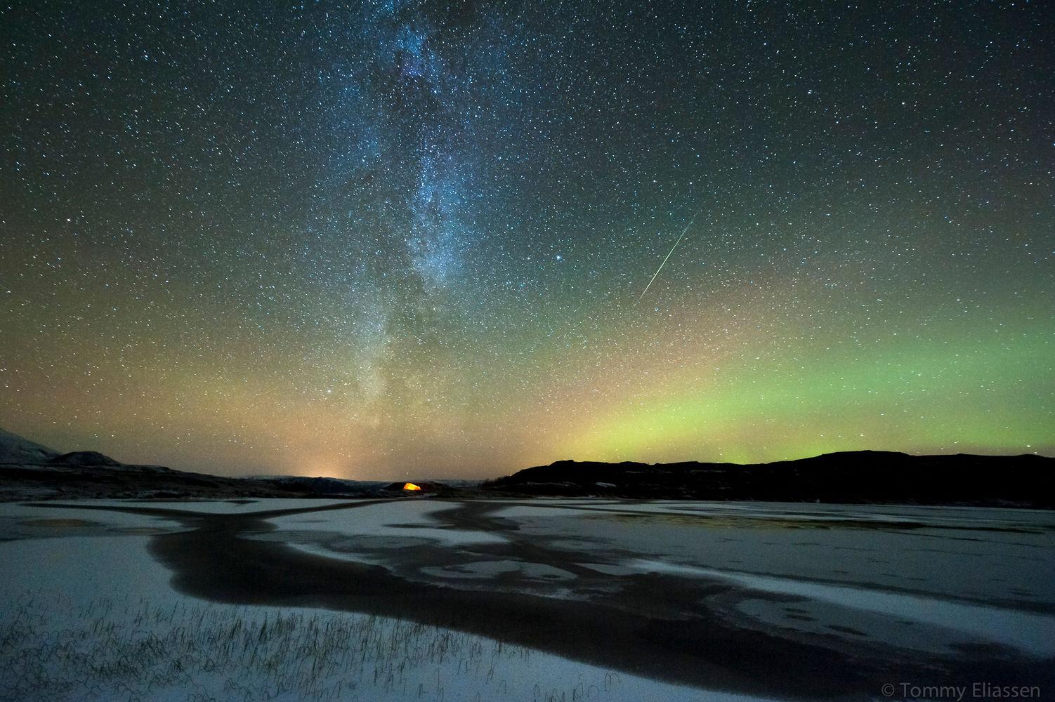 northern lights comet - photo #15
