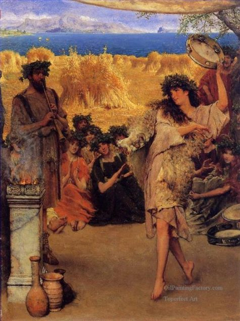 7-a-harvest-festival-a-dancing-bacchante-at-harvest-time-romanticism-roman-sir-lawrence-almatadema