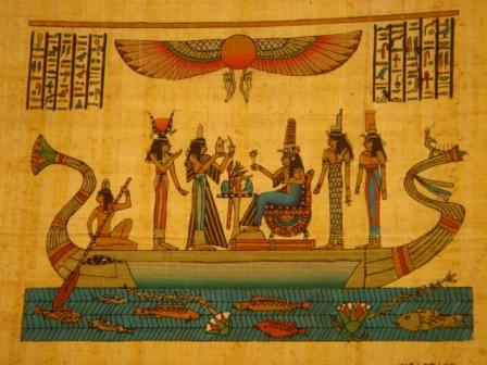 papyrus boat egyptian art