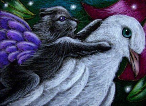 fairy-kitten-cat-dove-ride