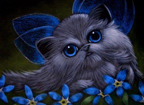 smokey-silver-persian-fairy-cat