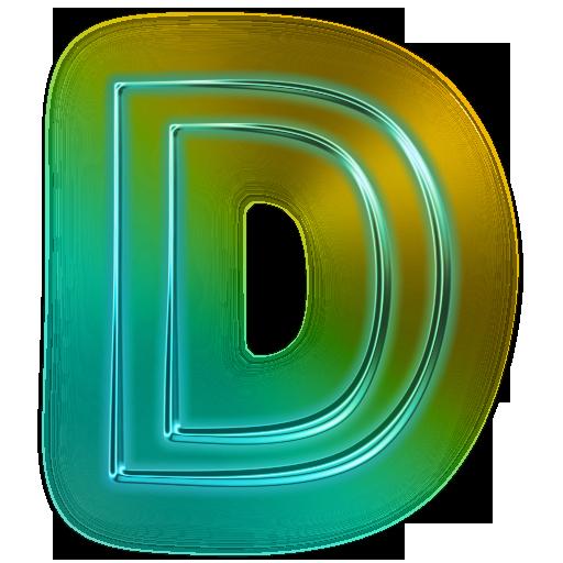 110681-glowing- Green -neon-icon-alphanumeric- Letter -dd