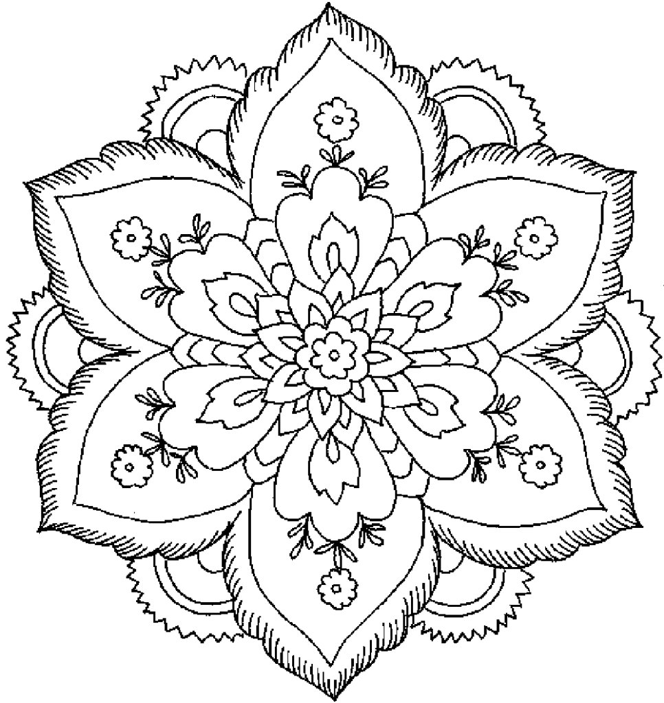Detailed Coloring Pages For Adults Printable Kids Colouring Roses Quotes 966x1024