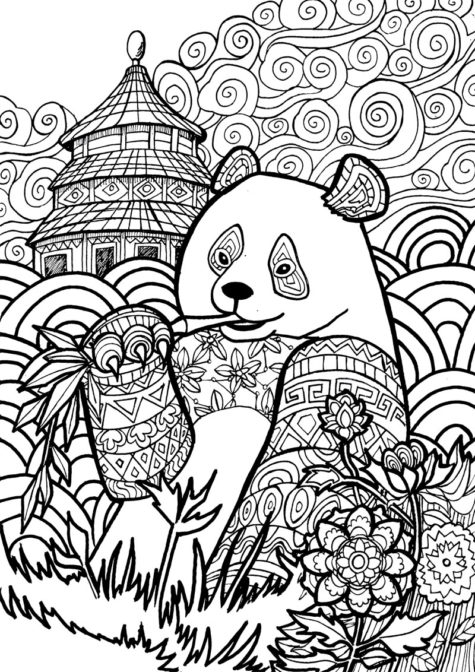With Lots Of Intriguing Detail For Your Coloring Pleasure