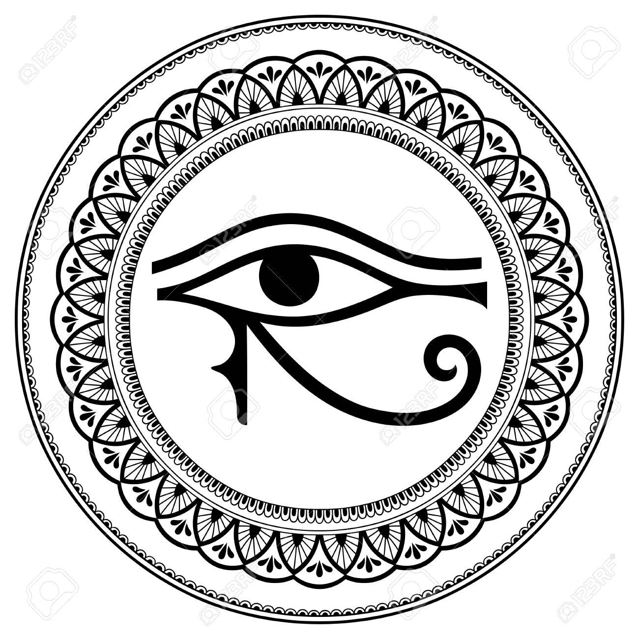 81998864 Patrón Circular En Forma De Mandala El Antiguo Símbolo Eye