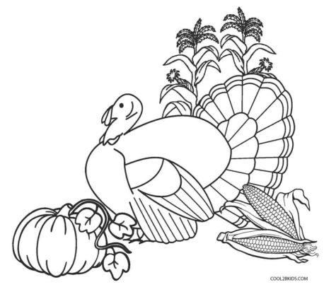 Child Thanksgiving coloring pages to print 004 | 406x475