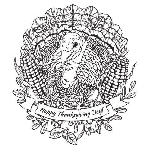 FREE Thanksgiving Coloring Pages for Adults & Kids - Happiness is ... | 475x475