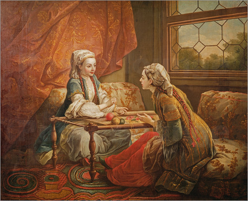 madame de pompadour in the role of fortuneteller