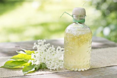elderflower-flavored-vinegar-summer