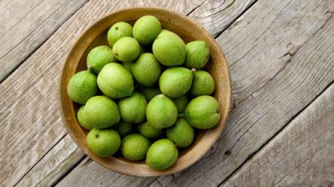 green-walnuts
