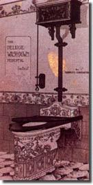 early decorated stoneware bath- britain