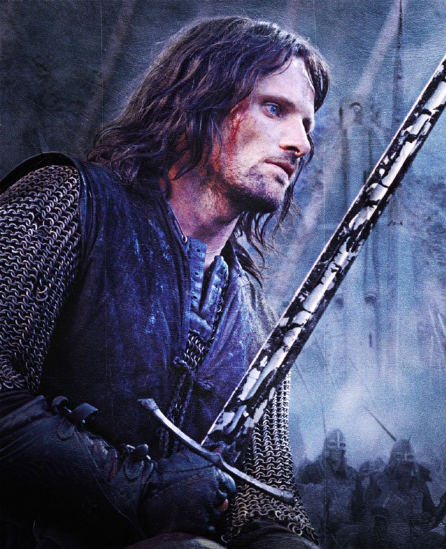 aragorn depicted as a type of