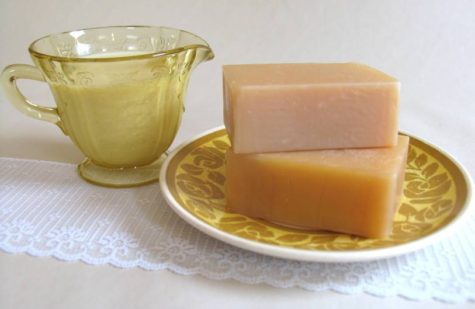 goat's milk homemade soap bath bar