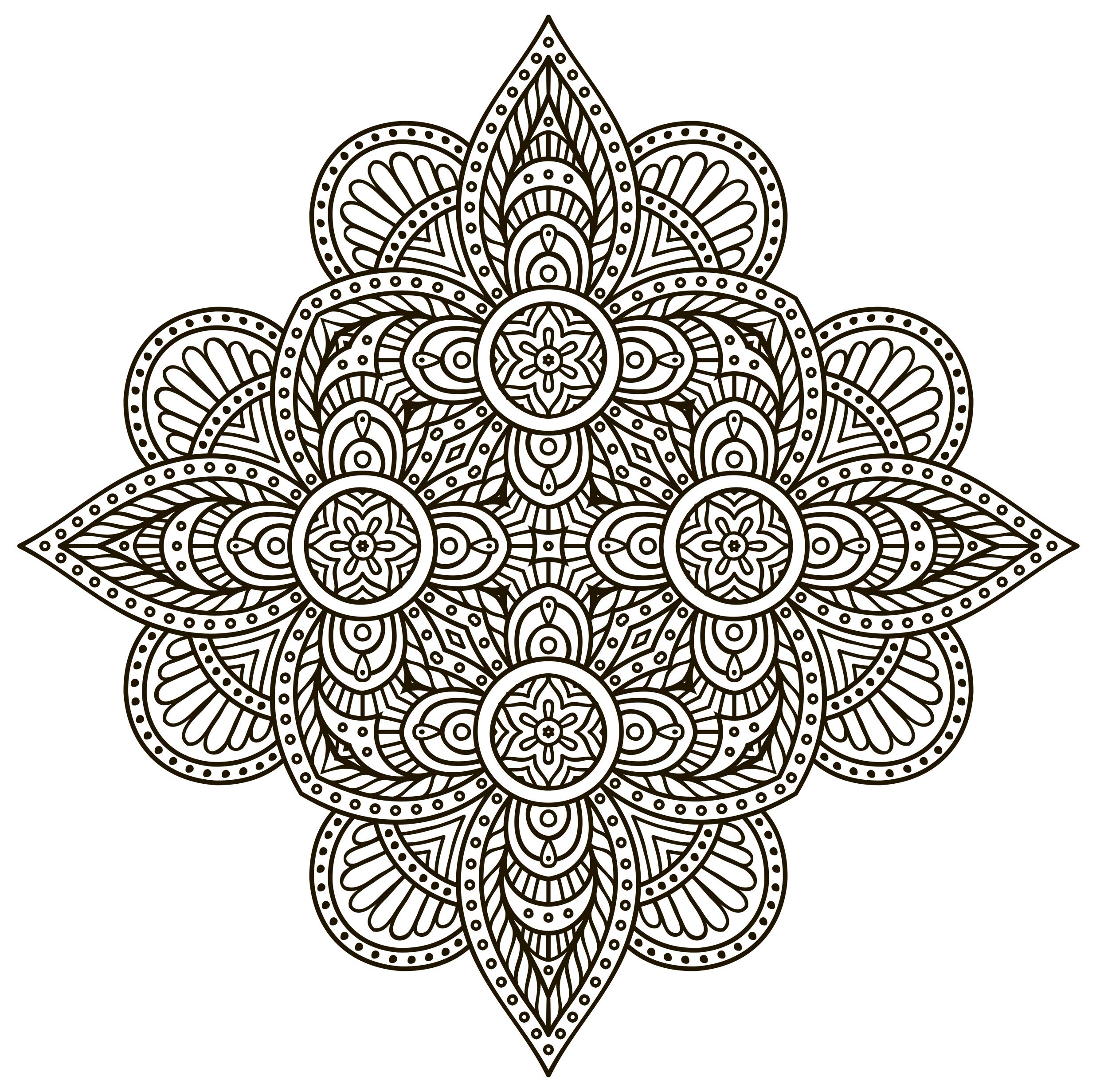 Fantastic Mandala to color Ornamental Pinterest Collection ...