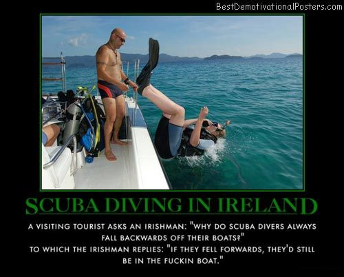 Why do divers fall backwards