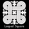 looped square small