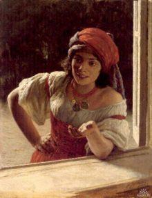 Gypsy Woman - 1886. Nikolai Yaroshenko. 1846 - 1898 (Russia)