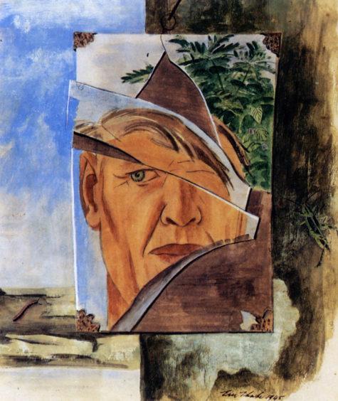 eric-thake-self-portrait-in-broken-shaving-mirror-1945