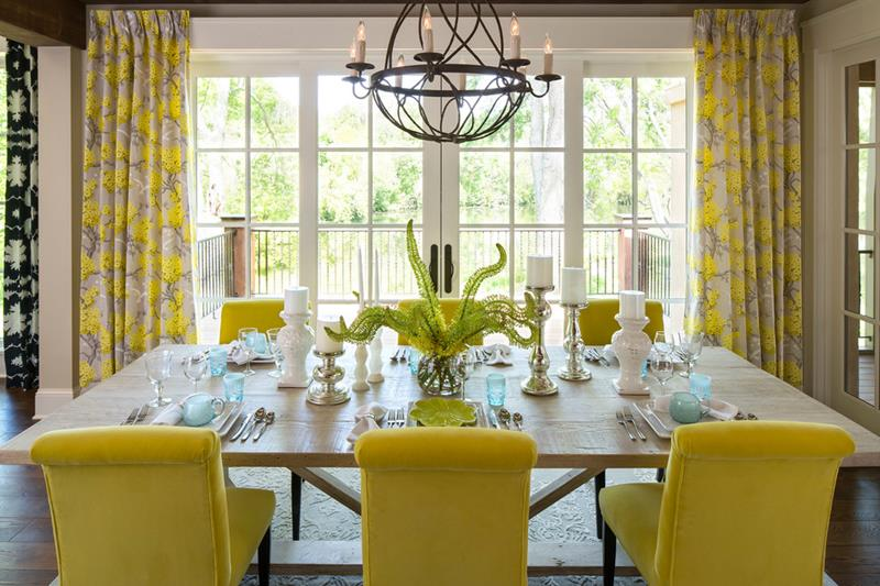 26 Beautiful And Bright Dining Room Designs 1