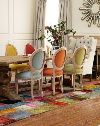 A550b8184bc85e4089649de98fb70f30 Colorful Dining Rooms Colorful Chairs The Prosperity Project