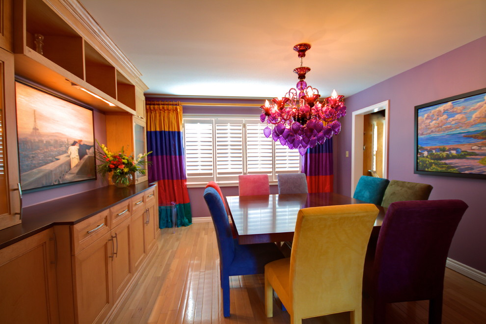 Colorful Dining Chairs Room Eclectic With Bold Colors Bright