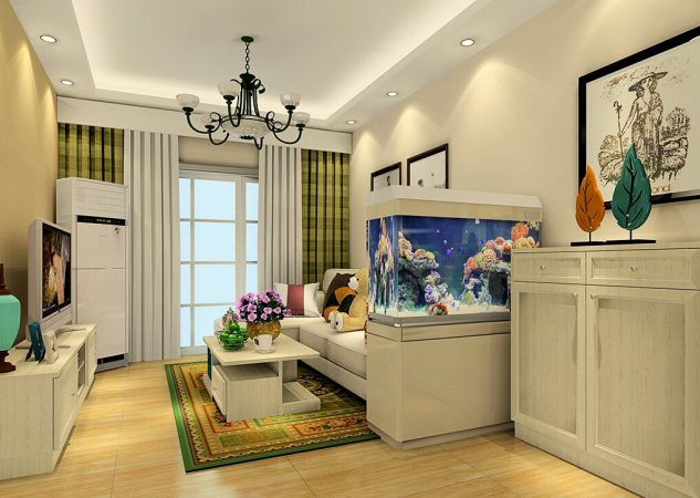 Living Room Living Room Aquarium Aquarium Living Room  Britain Nostalgic Style 633×450
