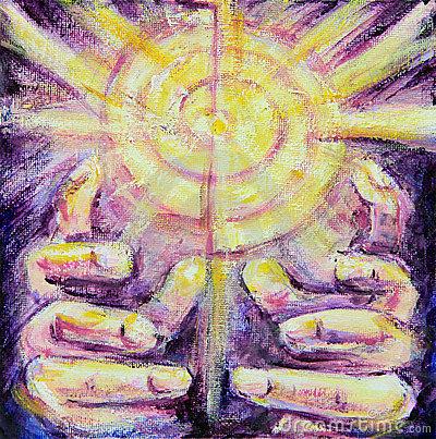 sun-rays-reiki-healing-hands-painting-19523301