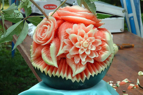 watermelon-bouquet-carving