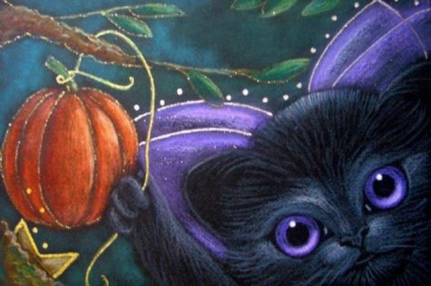 black-fairy-kitten-cat-halloween-pumpkin